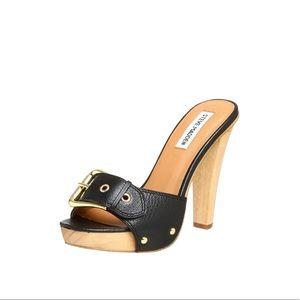 Steve Madden Crunk Black Heeled Sandal